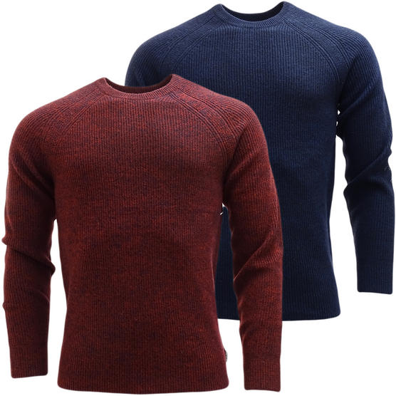Ben Sherman Ribbed Lambswool Jumper - Slim Fit - ME13070 Thumbnail 1