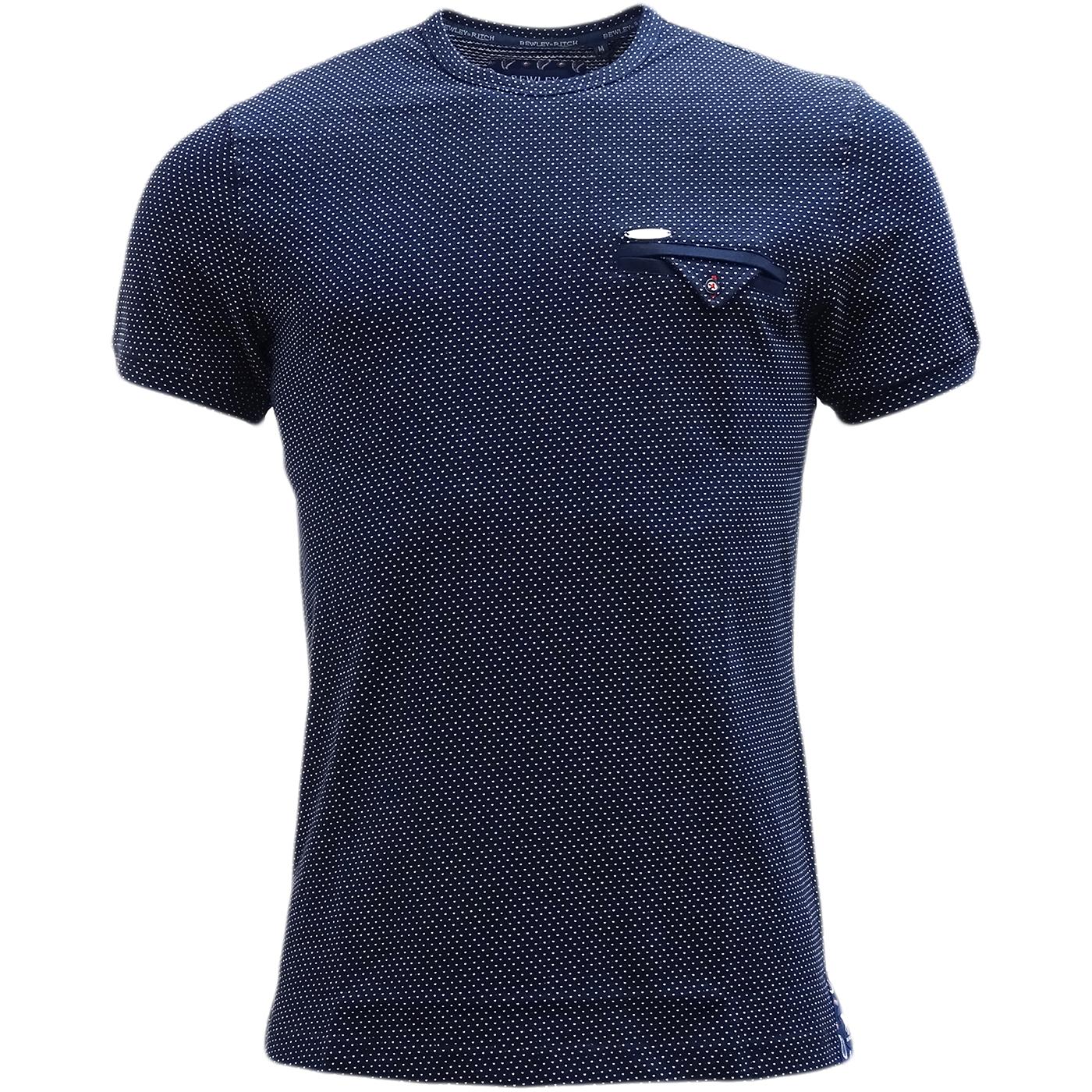 Bewley & Ritch Polka Dot T-Shirt Swain Navy