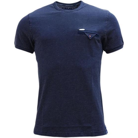 Bewley & Ritch Polka Dot T-Shirt Swain Navy Thumbnail 1