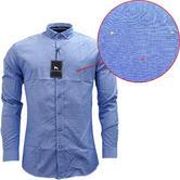 Bewley & Ritch Mens Slim Fit Fleck Shirt Hurst Blue