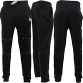 Hype Black Sweatpant Jogger Bottom - Tapered Fit - 'Taping'