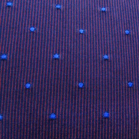 Bewley & Ritch Mens Slim Fit Polka Dot Burgundy Shirt - Leeson Thumbnail 4