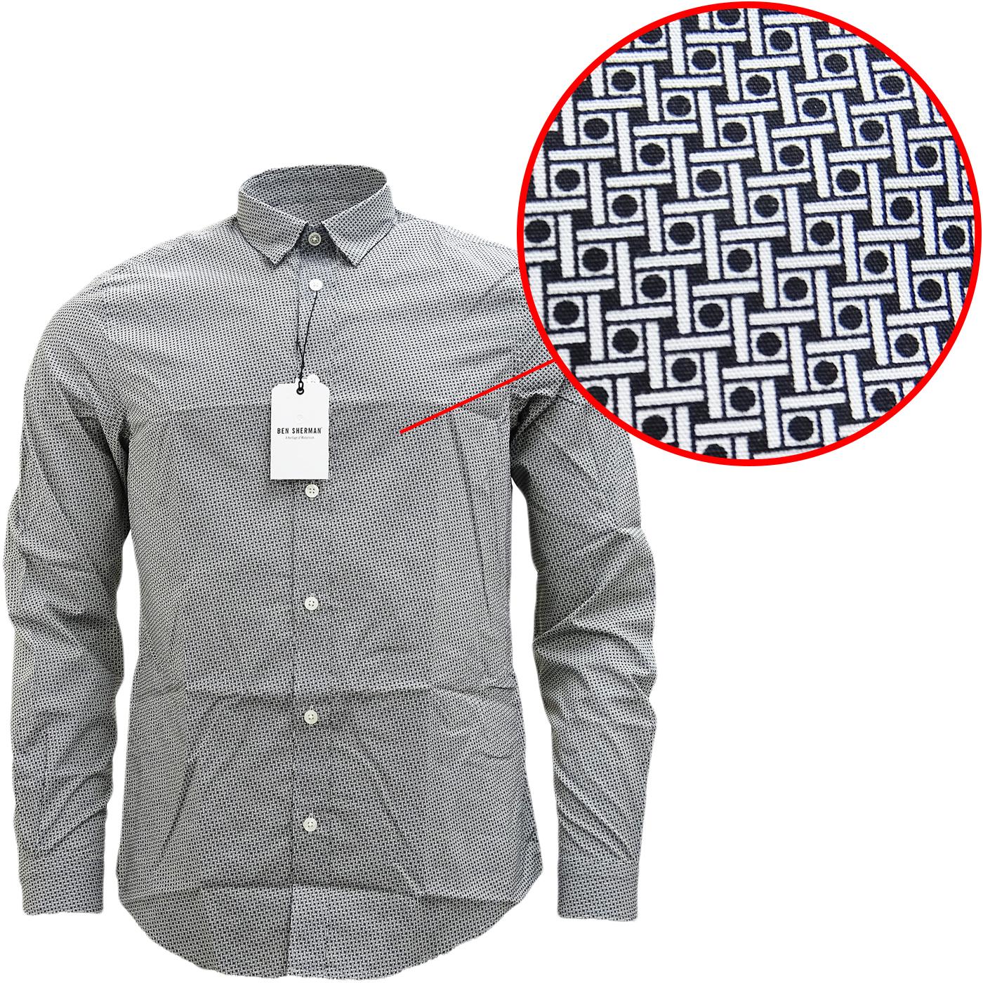 Ben Sherman Square & Spot Black Shirt MA13006