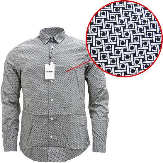 Ben Sherman Square & Spot Black Shirt MA13006 Thumbnail 1