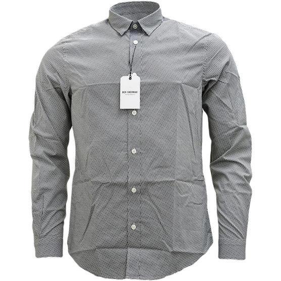 Ben Sherman Square & Spot Black Shirt MA13006 Thumbnail 2