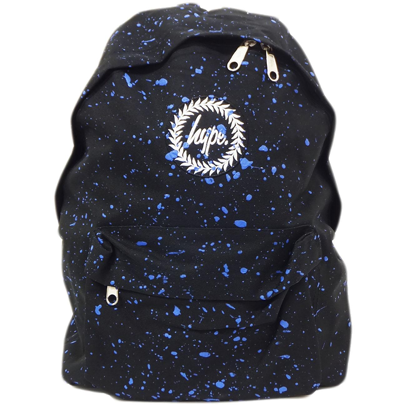 Hype Black and Blue Splatter Backpack