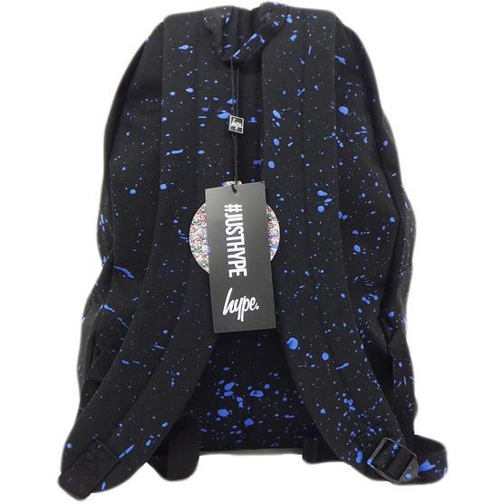 Hype Black and Blue Splatter Backpack Thumbnail 2