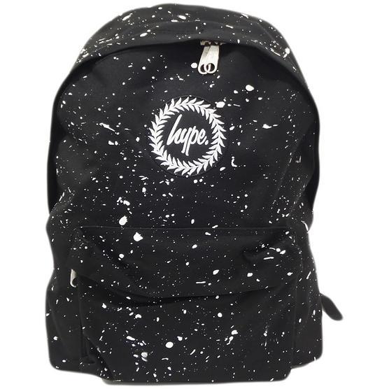 Hype Black and White Splatter Backpack Thumbnail 1
