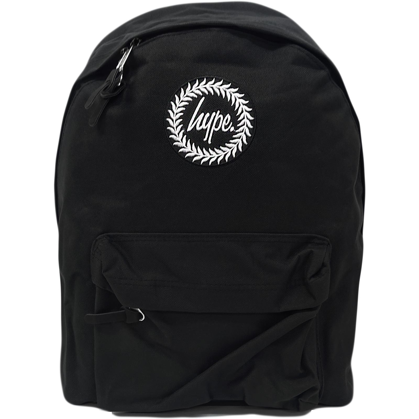 Hype Plain Black Backpack Bag