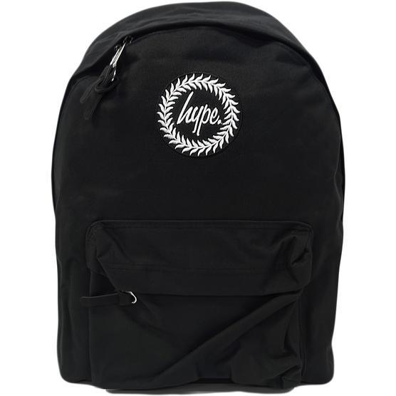 Hype Plain Black Backpack Bag Thumbnail 1
