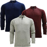 Threadbare Half Zip Lightweight Jumper - 024