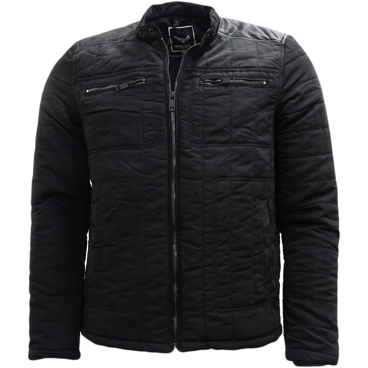 Brave Soul Black Jacket / Outerwear Coat