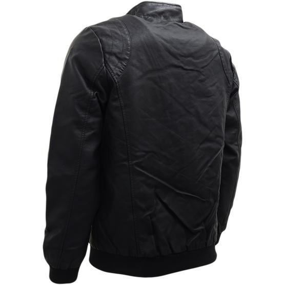 Brave Soul Black Leather Look Jacket / Outerwear Coat Thumbnail 2