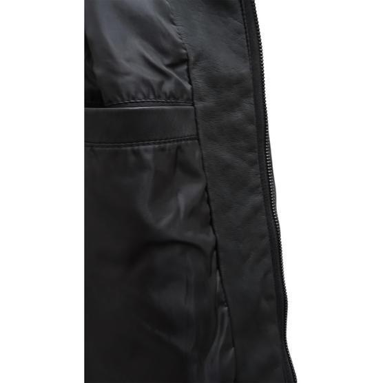 Brave Soul Black Leather Look Jacket / Outerwear Coat Thumbnail 5