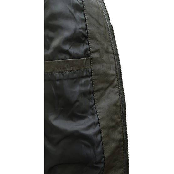 Brave Soul Smoke Grey Leather Look Jacket / Outerwear Coat Thumbnail 5