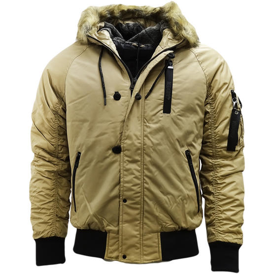 4Bidden Faux Fur Hooded Bomber Jacket / Outerwear Coat - Response Thumbnail 2