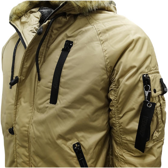 4Bidden Faux Fur Hooded Bomber Jacket / Outerwear Coat - Response Thumbnail 4