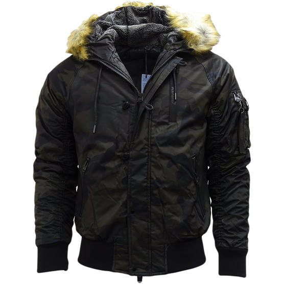 4Bidden Faux Fur Hooded Bomber Jacket / Outerwear Coat - Response Thumbnail 7