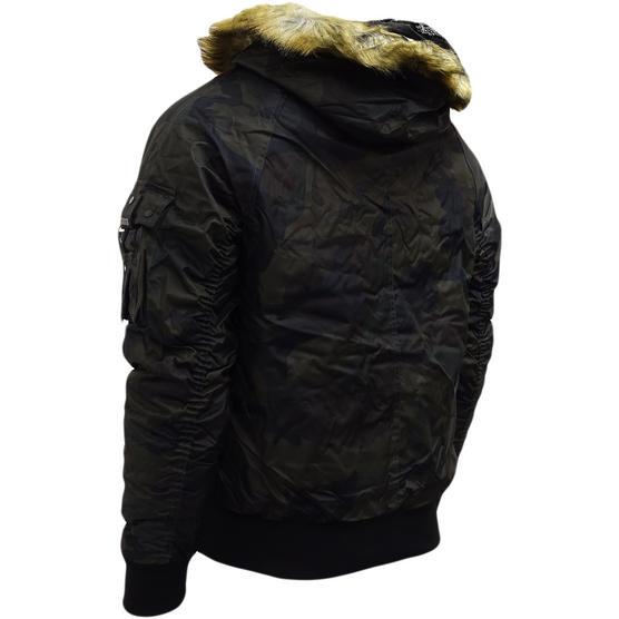 4Bidden Faux Fur Hooded Bomber Jacket / Outerwear Coat - Response Thumbnail 8