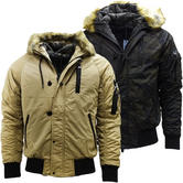 4Bidden Faux Fur Hooded Bomber Jacket / Outerwear Coat - Response