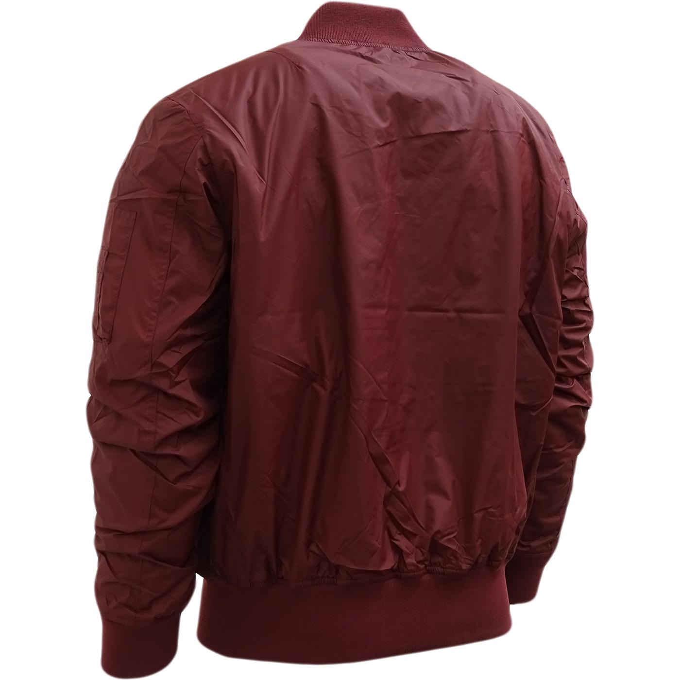 Hype burgundy ma style bomber jacket outerwear coat