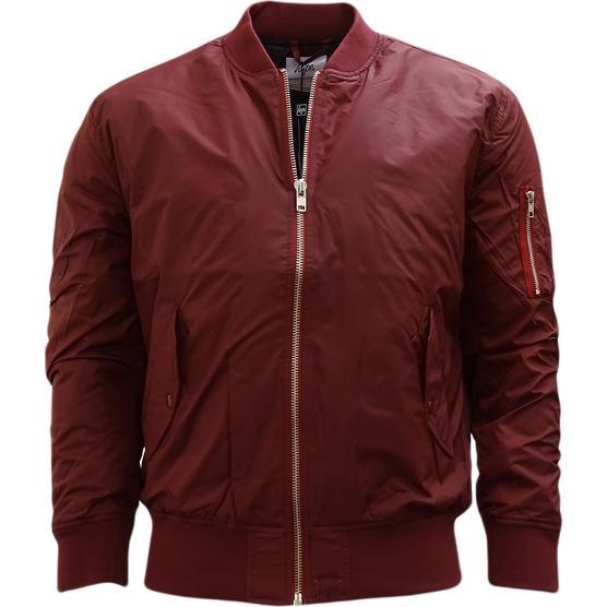 Hype Burgundy Ma1 Style Bomber Jacket / Outerwear Coat Thumbnail 1