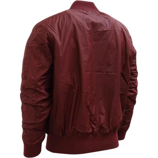 Hype Burgundy Ma1 Style Bomber Jacket / Outerwear Coat Thumbnail 2