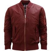 Hype Burgundy Ma1 Style Bomber Jacket / Outerwear Coat