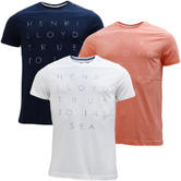 Henri Lloyd Logo Front T-Shirt - Keadby