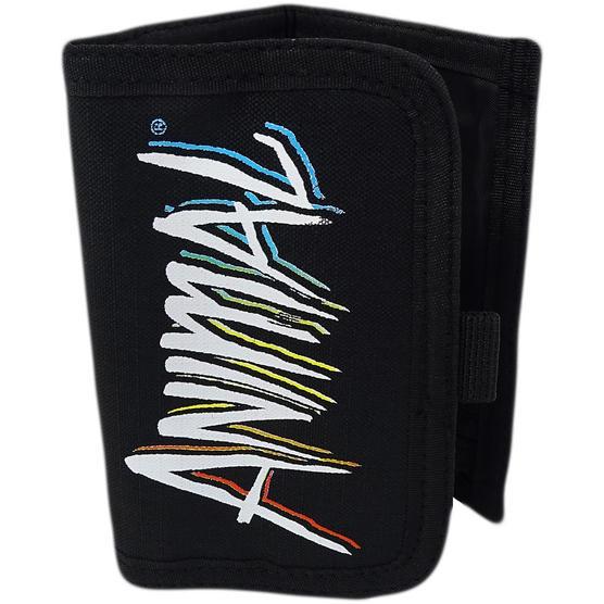 Animal Black Tri Fold Wallet / Card, Note Holder Black Thumbnail 1