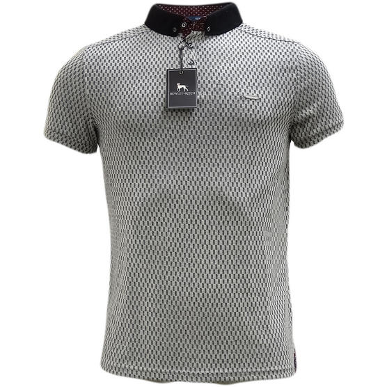 Bewley & Ritch Grey Lightweight Polo Shirt Thumbnail 1