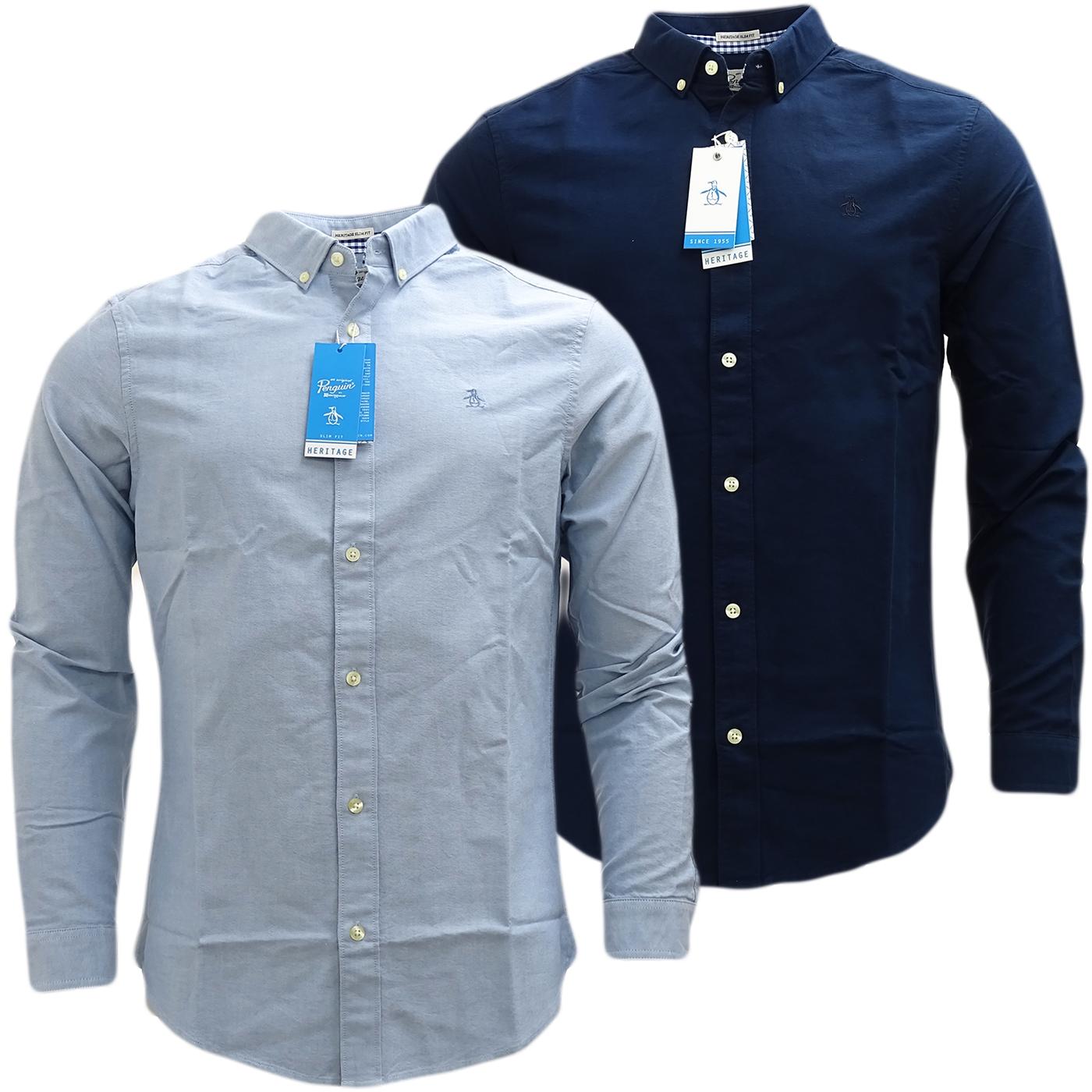 Original penguin plain button down oxford shirt 5080 for Black oxford button down shirt
