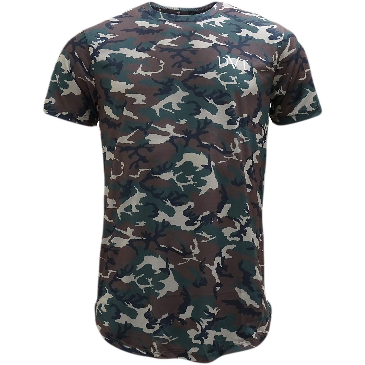 Devote Camo Dished Camoflage Lightweight T-Shirt