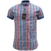Bewley & Ritch White Slim Fit Button Down Check Shirt