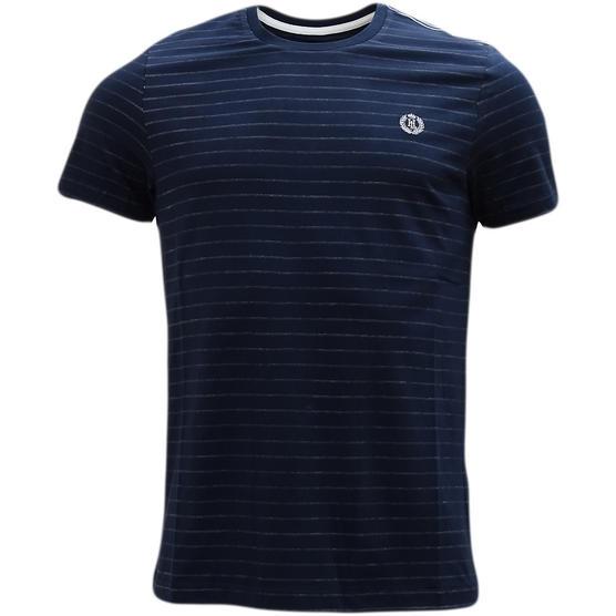 Henri Lloyd Navy Thin Stripe T-Shirt Thumbnail 1