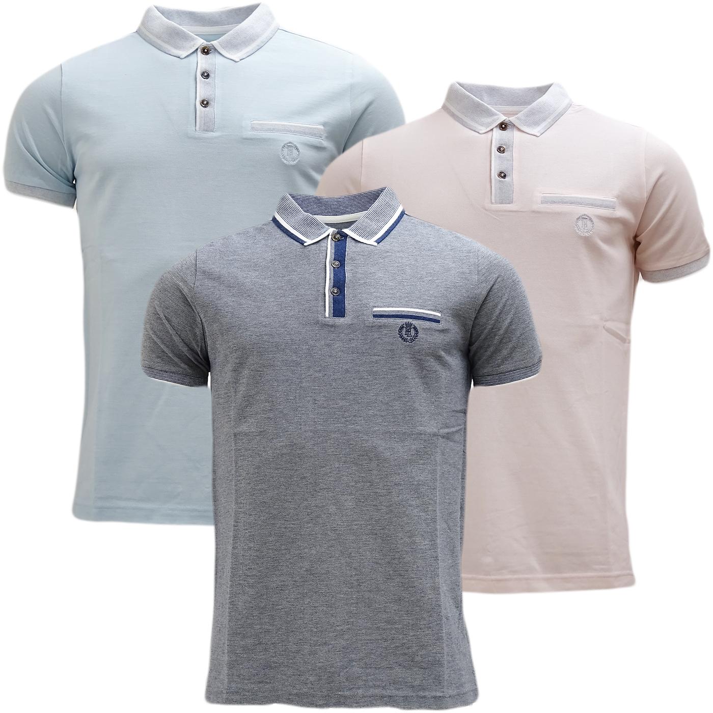 Henri Lloyd Contrast Collar / Cuffs - Pique Polo Shirt - Highland