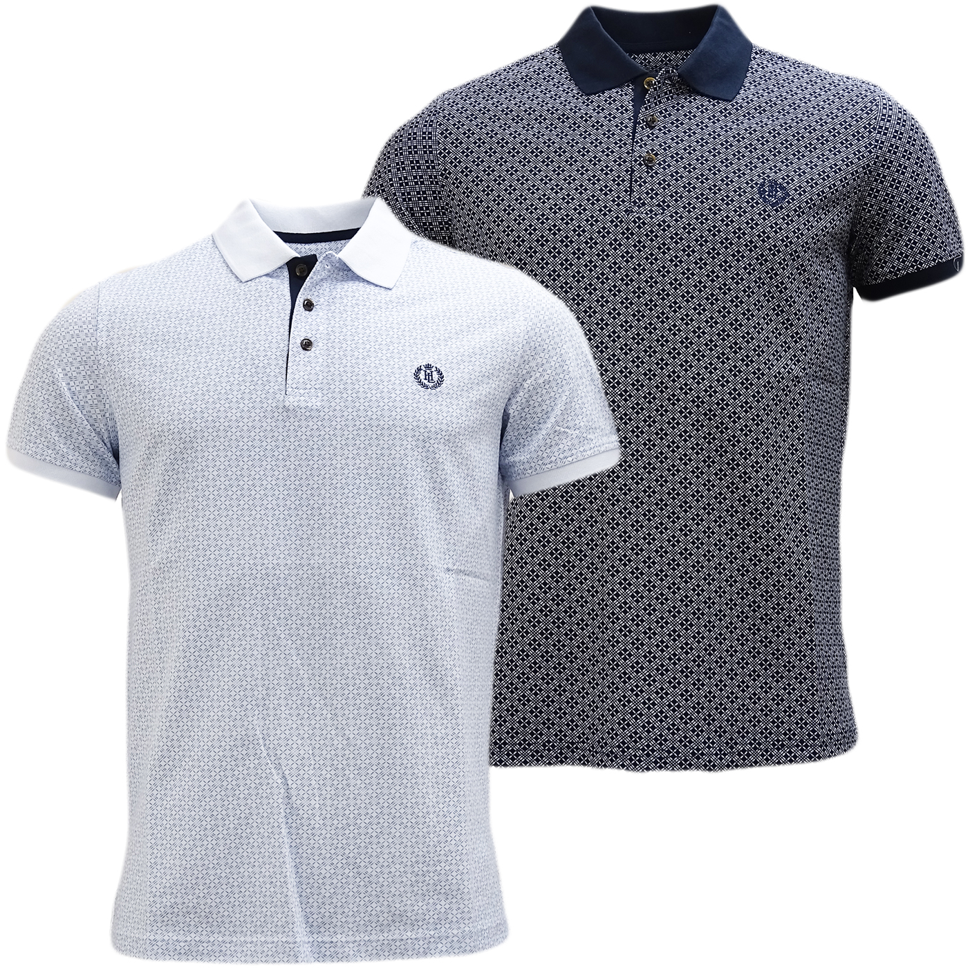 Henri Lloyd Cross Pattern Pique Polo Shirt - Flixton