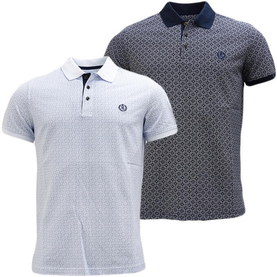Henri Lloyd Cross Pattern Pique Polo Shirt - Flixton Thumbnail 1