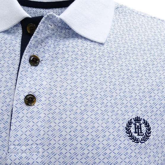 Henri Lloyd Cross Pattern Pique Polo Shirt - Flixton Thumbnail 4