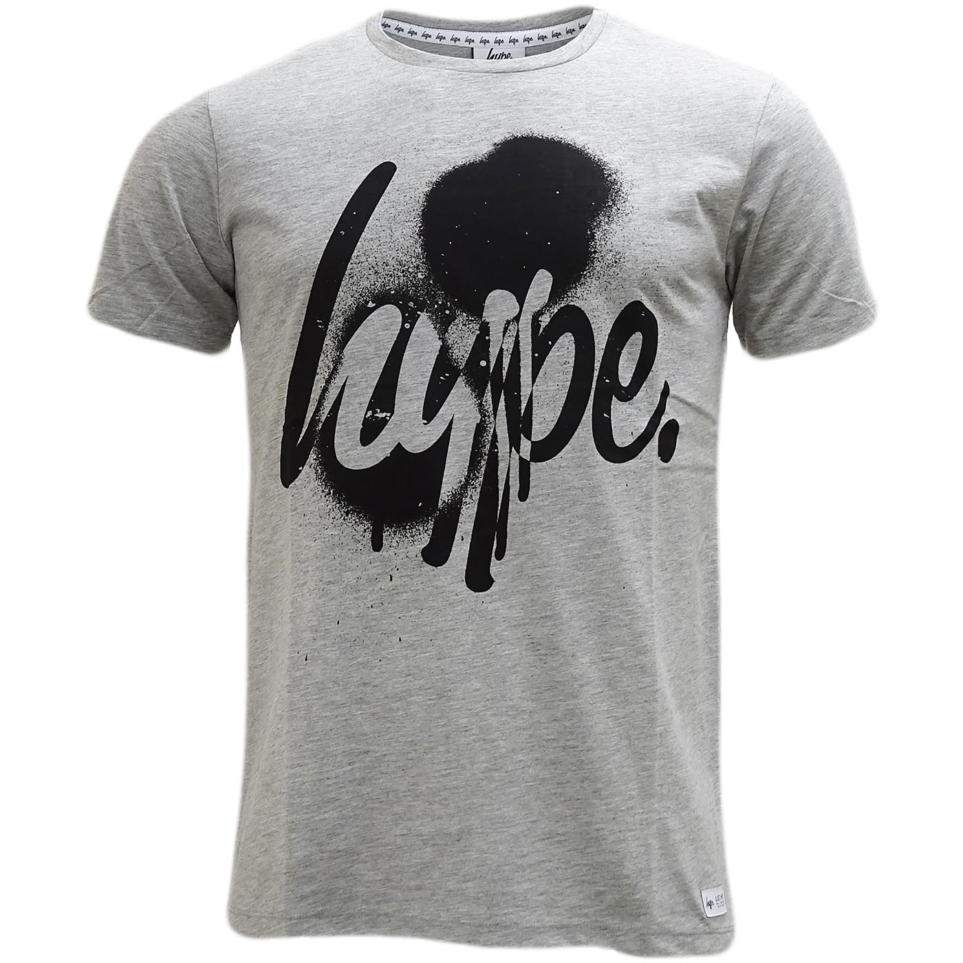 Hype grey marl hype script logo t shirt daily deals mr for Grey marl t shirt