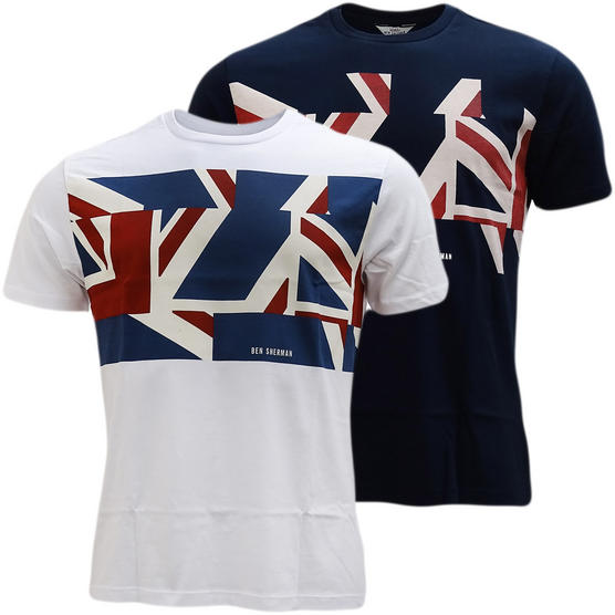 Ben Sherman Union Jack T-Shirt - Mb13460 Thumbnail 1