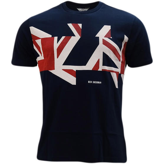 Ben Sherman Union Jack T-Shirt - Mb13460 Thumbnail 4