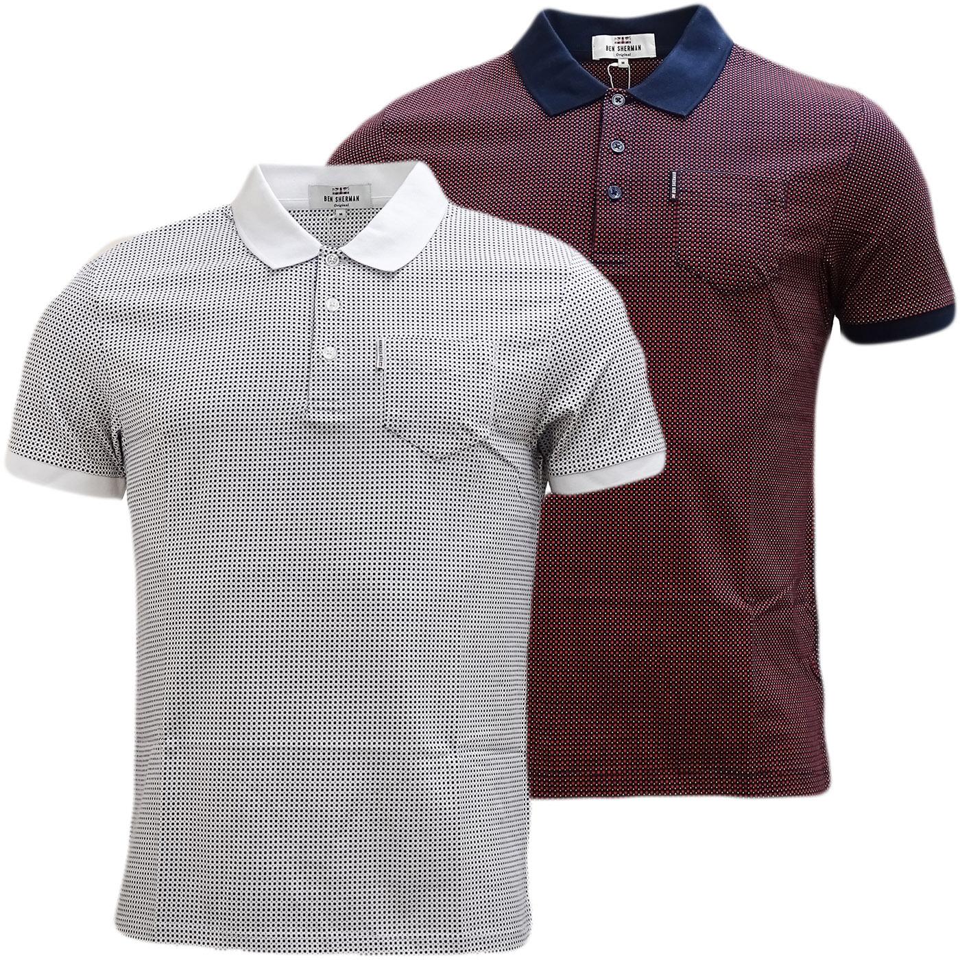 Ben Sherman Square Mod / Retro Polo Shirt - Mc13432