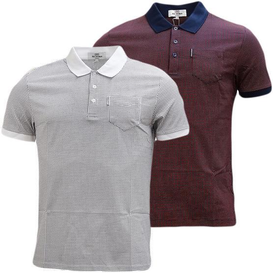 Ben Sherman Square Mod / Retro Polo Shirt - Mc13432 Thumbnail 1