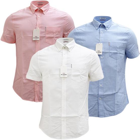 Ben Sherman Plain Button Down Oxford Shirt - Ma13606 Thumbnail 1