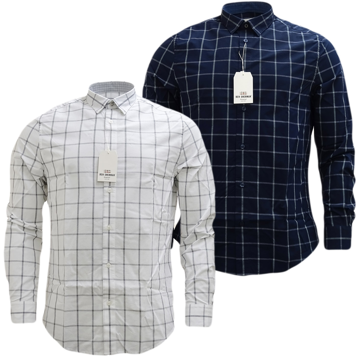 Ben Sherman Large Check (Concealed Button Down) Shirt - Ma13363