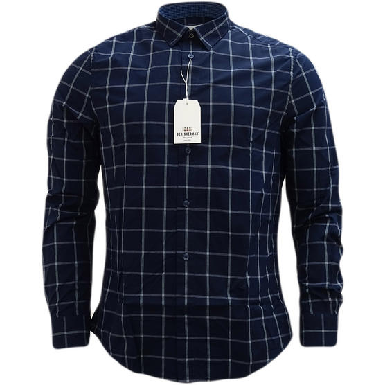 Ben Sherman Large Check (Concealed Button Down) Shirt - Ma13363 Thumbnail 2