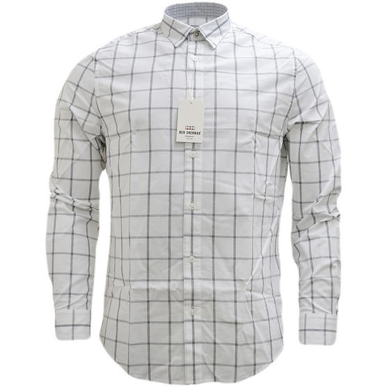 Ben Sherman Large Check (Concealed Button Down) Shirt - Ma13363 Thumbnail 4