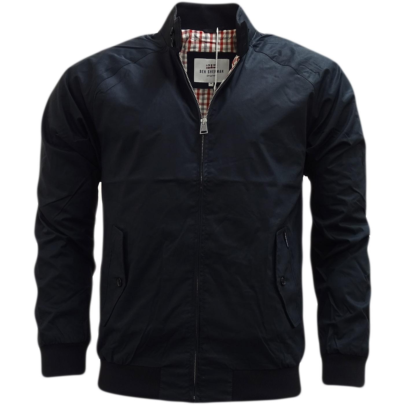 ben sherman harrington gingham lining jacket coat mf13639 jackets mr h menswear. Black Bedroom Furniture Sets. Home Design Ideas