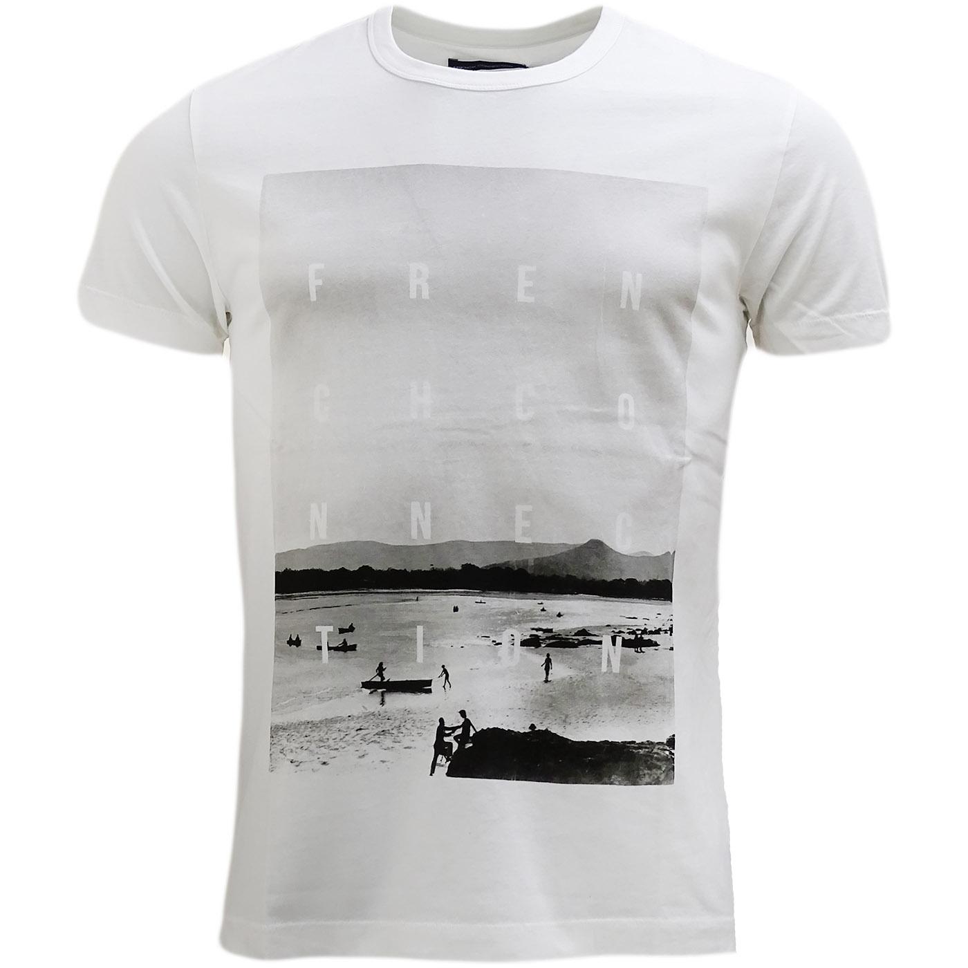 Fcuk White Beach Logo T-Shirt